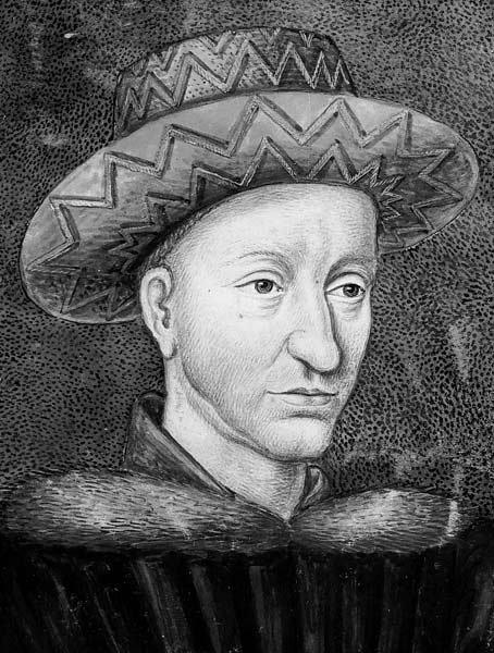 Contemporary image of Charles VII