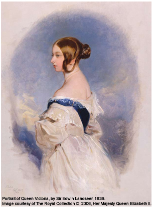 1838 portrait of Queen Victoria