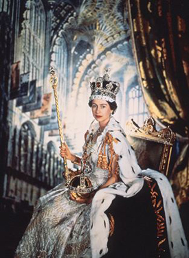 Elizabeth II at her coronation