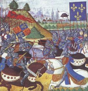 The Battle of Patay from Froissart's Chronicles