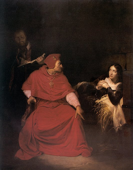 the Cardinal of Winchester interrogating Joan of Arc