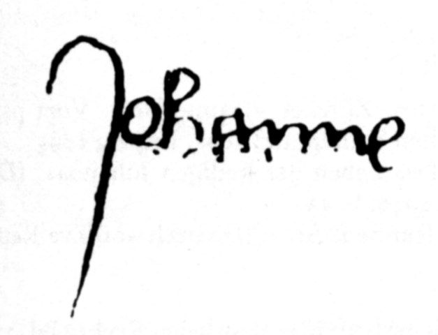 A surviving example of Joan's signature