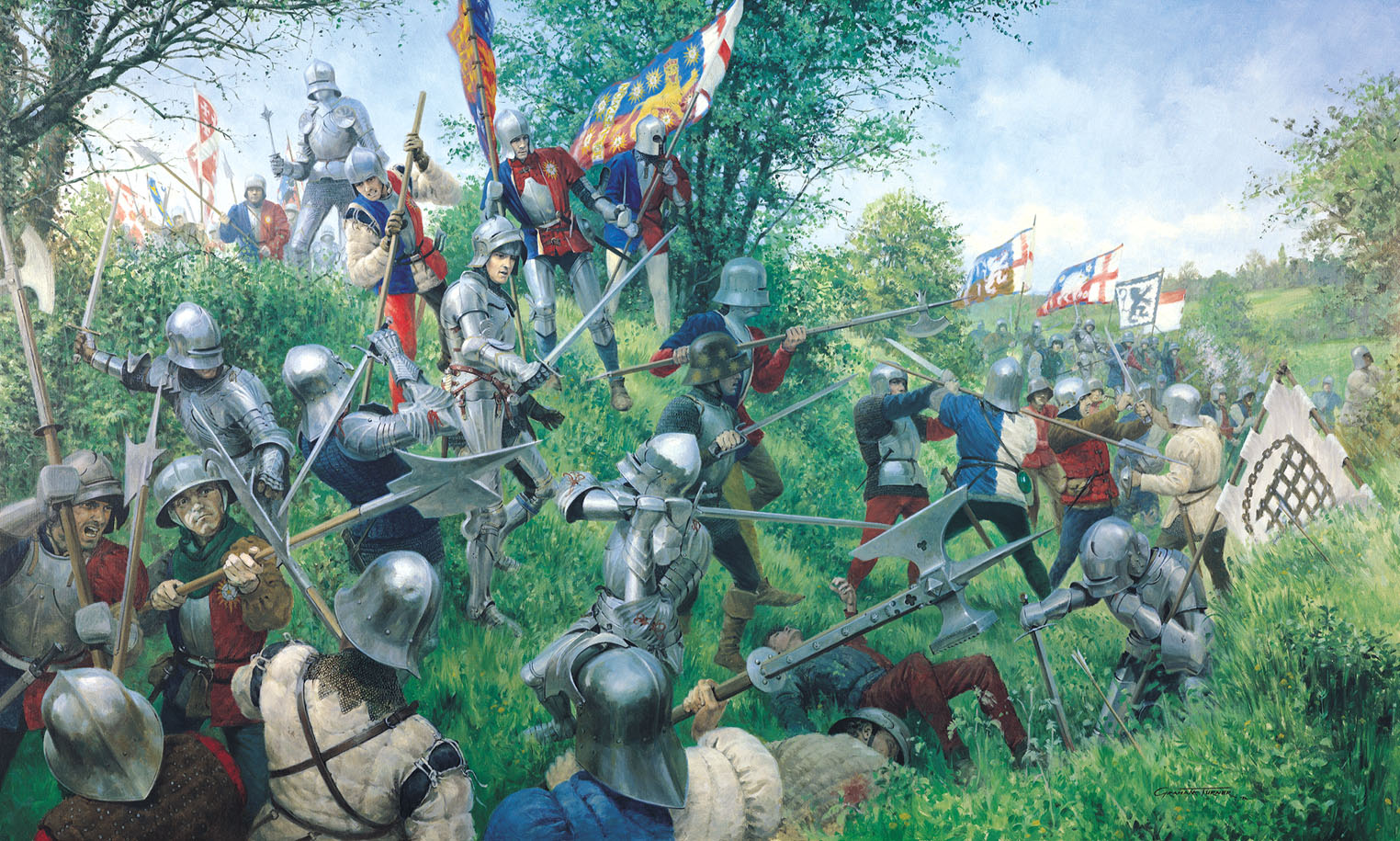 Modern depiction of the Battle of Tewkesbury